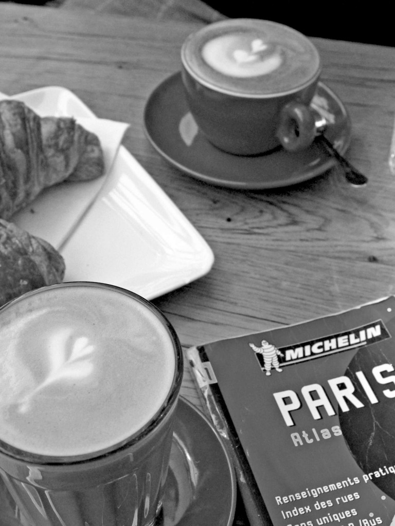 Paris Croissant Café BandW © French Moments