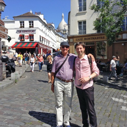 Pierre with Phil Bellamy from Sydney, Australia on the Montmartre Walking Tour.